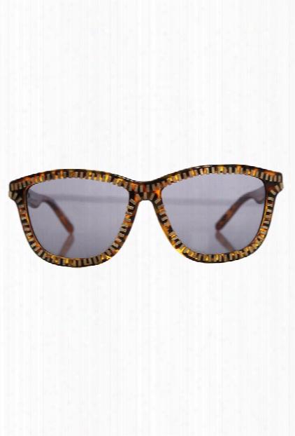 Alexander Wang Brown Zipper Motif Aw/3/10 Sunglasses