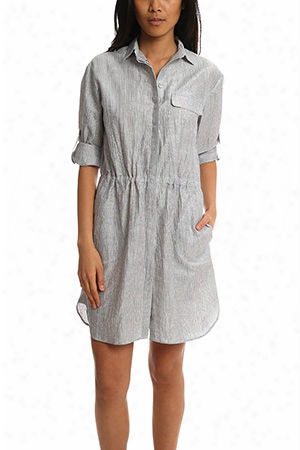 Atm Crinkle Shirt Dress
