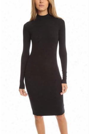 Atm Long Sleeve Mock Neck Dress
