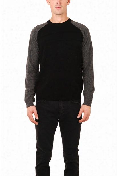 Atm Raglan Cashmere Contrast Sleeve Sweater