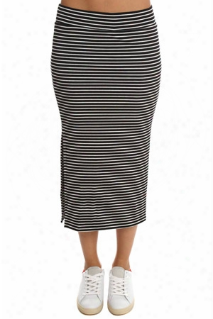 Atm Striped Rib Skirt