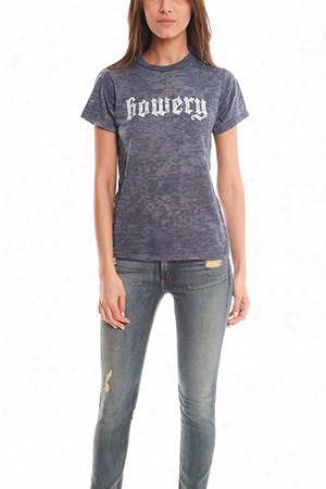 Blue&cream Bowery Burnout Tee