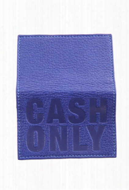 Blue&cream 'cash Only' Card Case