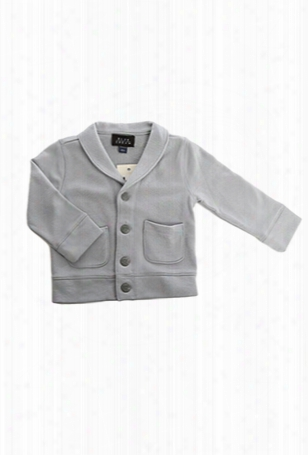 Blue&cream Kids Slate Grey Shawl Collar Cardigan