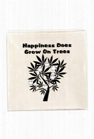 "Blue&cream ""happiness Grows On Trees"" Tray"