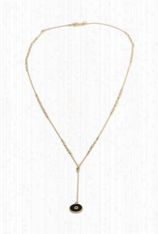 Chan Luu Gold Plated Chain Necklace With Black Charm