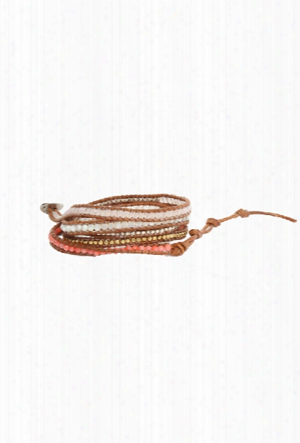 Chan Luu Multi Stone Mix Wrap Bracelet On Clay Leather