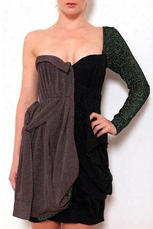 Coven One Shoulder Bustier Dress