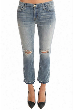 Current/elliott Cropped Straight Jean