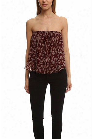 Elizabeth And James Pippa Ikat Strapless Top