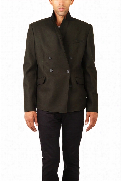 Pierre Balmain Double Breasted Blazer Army Green
