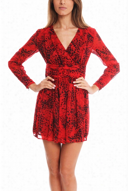 Pierre Balmain Red Print Dress
