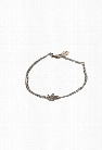 Chan Luu Silver Diamond Leaf Bracelet