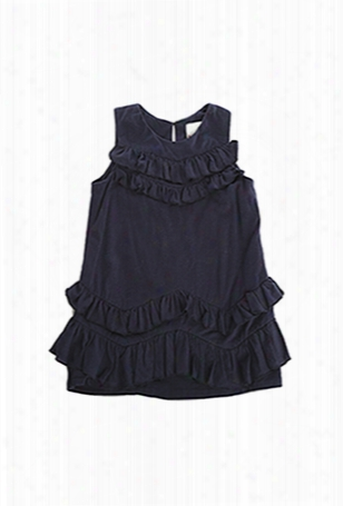 3.1 Phillip Lim Kids Chevron Ruffle Dress