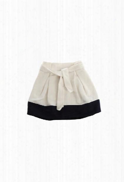 3.1 Phillip Lim Kids Contrast Hem Waist Tie Skirt