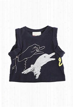 3.1 Phillip Lim Kids Goose Puppet Muscle Tee
