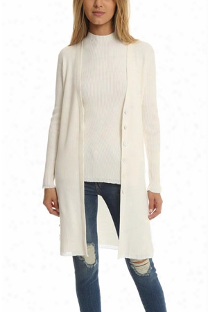 3.1 Phillip Lim Plaited Rib Long Cardigan