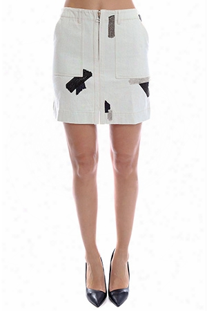 3.1 Phillip Lim Skirt With Metal Chain Patchwork Embroidery