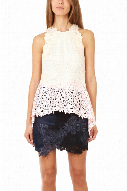 3.1 Phillip Lim Sleeveless Floral Lace Tank