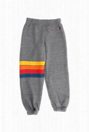 Aviator Nation Rainbow Stitch Kid's Sweatpant