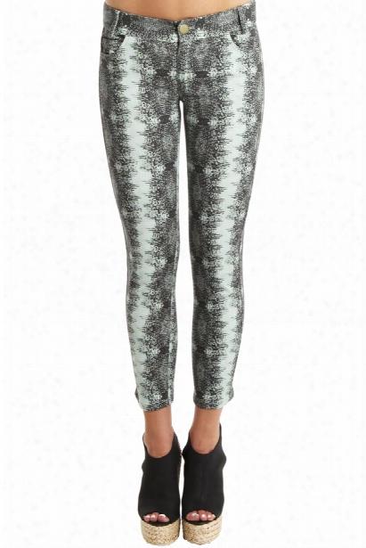 Derek Lam 10 Crosby Lizard-print Skinny Pants