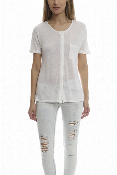 Frame Denim Le Button Down Tee