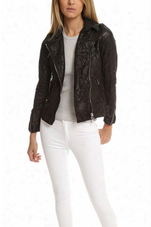 Giorgio Brato Lace Leather Jacket