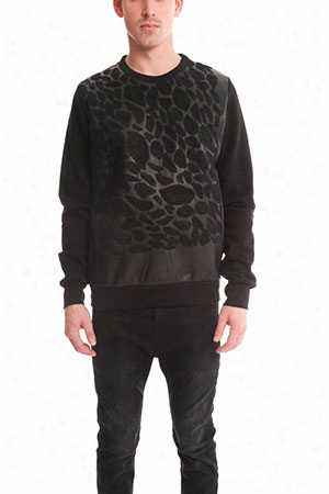 Giorgio Brato Leather Leopard Sweatshirt