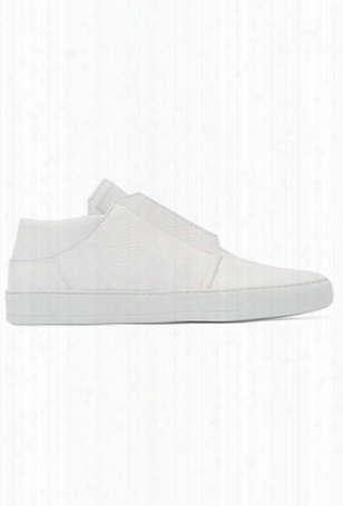 Helmut Lang Textured Leather Low Top Sneaker