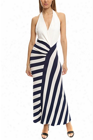 Herve Leroux Halter Maxi Dress