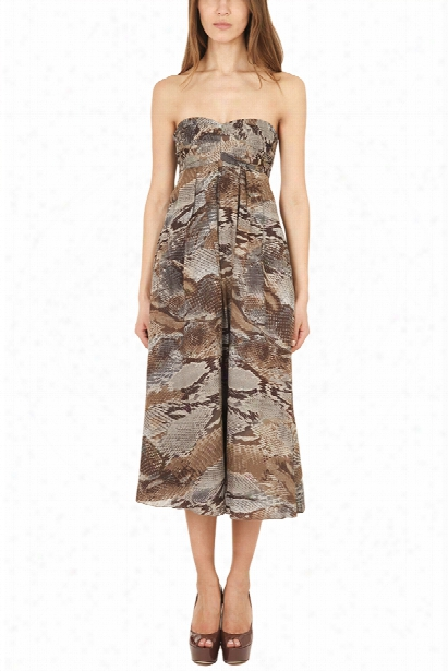 L'agence Pleated Strapless Dress
