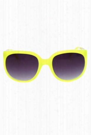 Linda Farrow X Matthew Williamson Neon Cat Eye Sunglasses