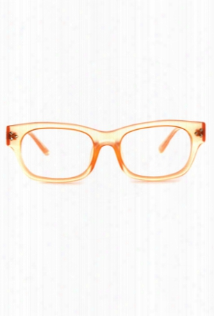 Linda Farrow X Matthew Williamson Neon Orange Square Glasses