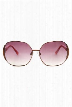 Linda Farrow X Matthew Williamson Rose Gold Sunglasses