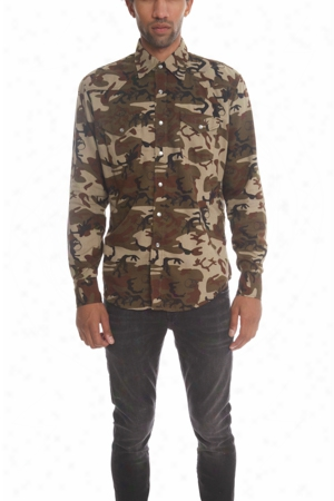 Lucien Pellat-finet Camo Western Shirt With Leaf