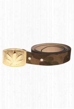Lucien Pellat-finet Gold Leaf Buckle Belt