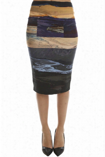 Mcq Alexander Mcqueen Color Block Skirt