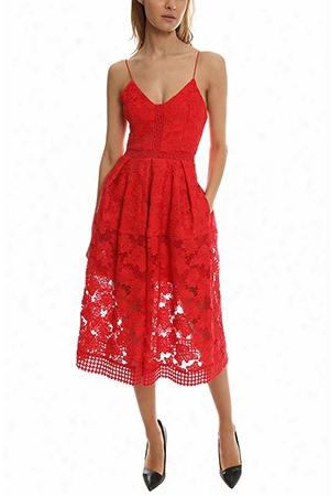Nicholas Floral Lace Rouleau Dress