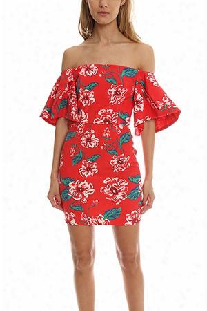 Nicholas Floral Tuck Sleeve Dress