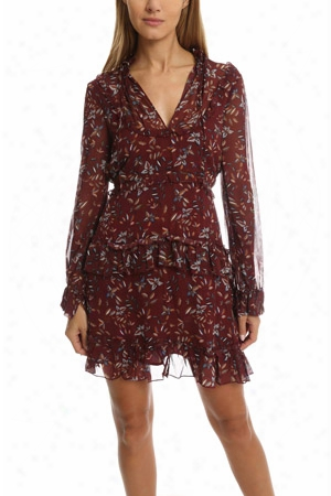 Nicholas Maple Print Yoke Dress