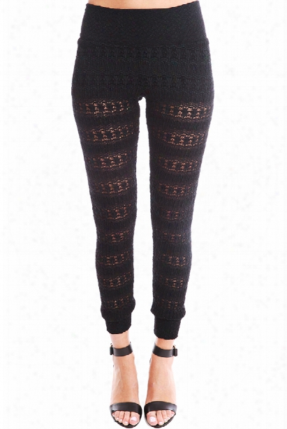 Nightcap Autumn Leaf Lace Pant In Black
