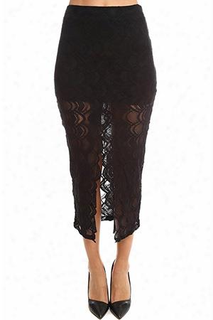 Nihgtcap Victorian Lace Midi  Skirt