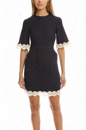 N/nicholas Denim Trim Mini Dress