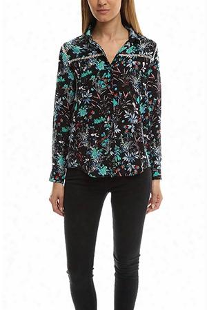 The Kooples Botanic Silk Shirt