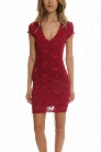 Nightcap Spanish Deep V Cap Sleeve Dress