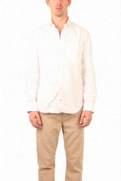 Blue&cream White Oxford Shirt