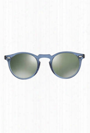 Oliver Peoples Gregory Denim Silver Mirror