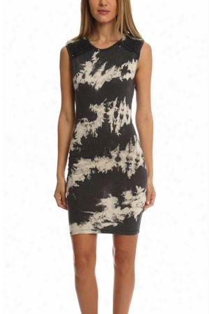 Pam & Gela Tie Dye Knotted Sleeveless Dress