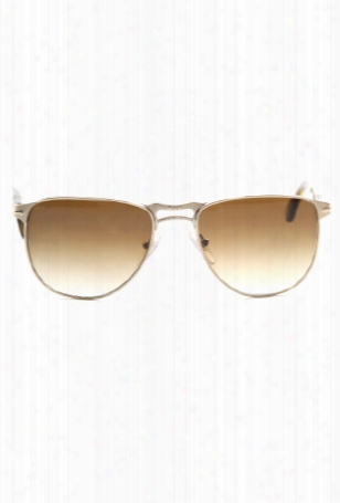 Persol Gold Crystal Brown Sunglasses