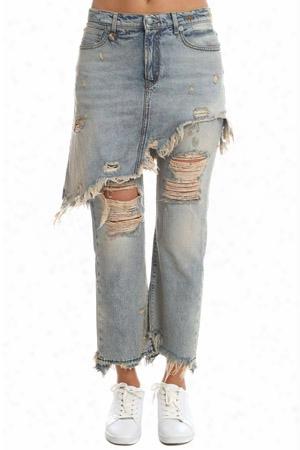 R13 Double Classic Shredded Jean